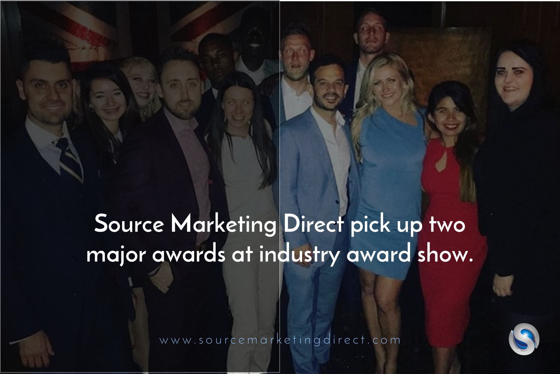 Source Marketing Direct pick up two major awards at industry award show.